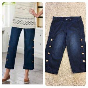 Soft Surroundings Side Button Denim Jeans